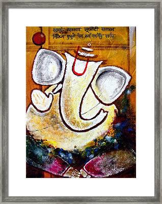 Ganesha  Framed Print by Aarti Bartake