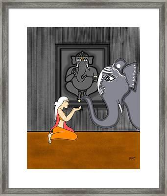 Ganesha Bhakti Framed Print