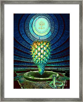 Framed Print featuring the painting Ganesha Blessing His Fruit by Mojo Mendiola