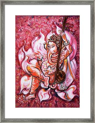 Ganesha - Enjoying Music Framed Print