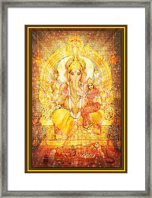 Ganesha Ganapati  Framed Print by Ananda Vdovic