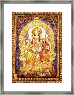 Ganesha Ganapati - Success Framed Print
