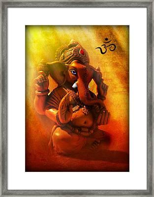 Ganesha Hindu God Asian Art Framed Print