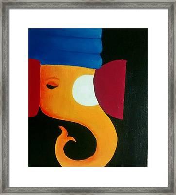 Ganesha Framed Print by Nehal Jain