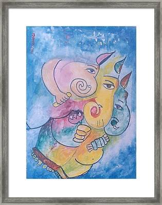 Ganesha Framed Print by Rooma Mehra