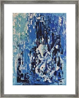 Ganesha Vara Blue Framed Print by Durshit Bhaskar