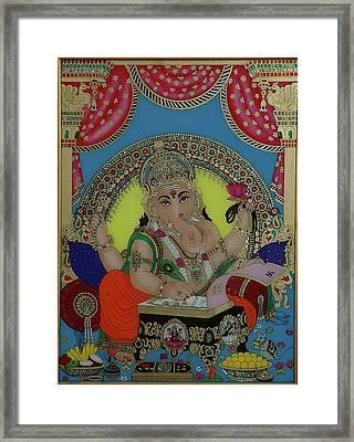 Ganeshji Framed Print by Vimala Jajoo