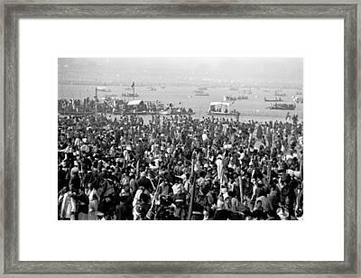Ganges - Kumbh Mela  Framed Print by John Battaglino