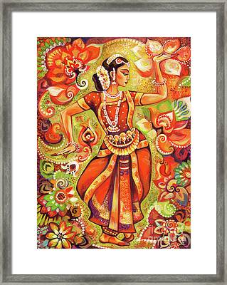 Ganges Flower Framed Print by Eva Campbell