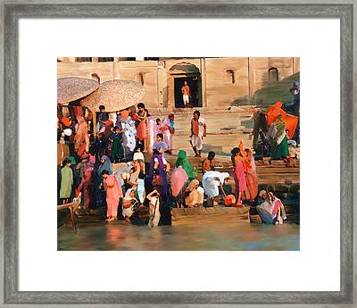 Ganges Framed Print by Kurt Van Wagner