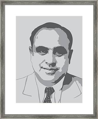 Gangster - Al Capone Framed Print by War Is Hell Store