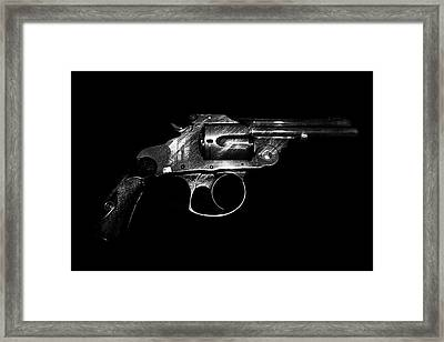 Framed Print featuring the mixed media Gangster Gun by Daniel Hagerman