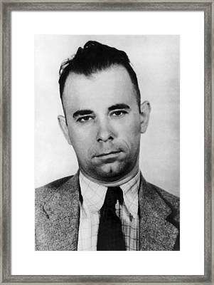 Gangster John Dillinger  Framed Print