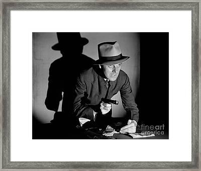 Gangster Stealing Money At Gunpoint Framed Print