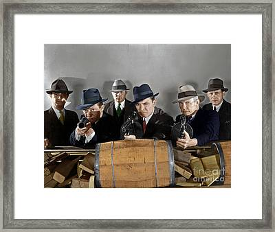 Framed Print featuring the photograph Gangsters by Granger