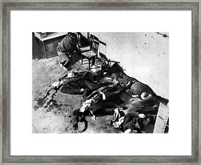 Gangsters, The St. Valentines Day Framed Print by Everett