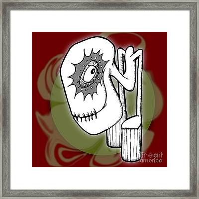 Ganix Framed Print by Uncle J's Monsters