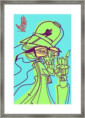 Ganja Man Framed Print by Nelson Dedos Garcia
