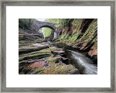 Gannochy Bridge Framed Print by Dave Bowman