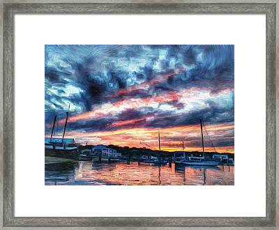 Gannon And Benjamin Railway Sunset Framed Print