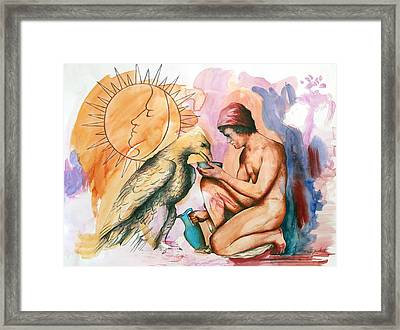 Ganymede And Zeus Framed Print