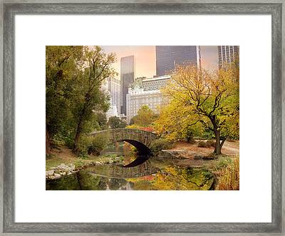 Gapstow Bridge Reflections Framed Print