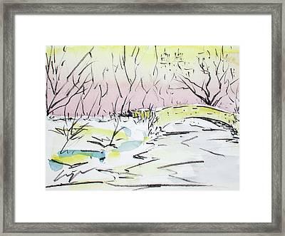 Gapstow In Winter Framed Print by Chris Coyne