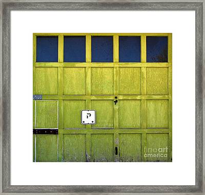 Garage Door Framed Print by Ethna Gillespie