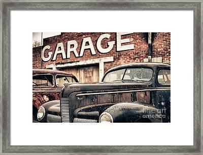 Garage Framed Print by Jeremy Holmes