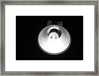 Garage Light Framed Print