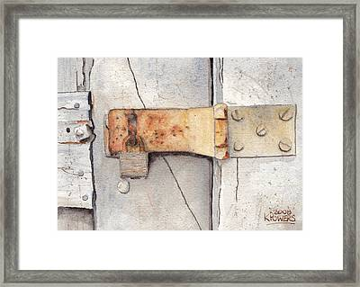 Garage Lock Number Two Framed Print by Ken Powers