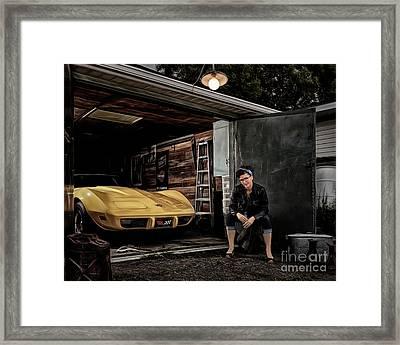 Garage Portrait Framed Print by Brad Allen Fine Art