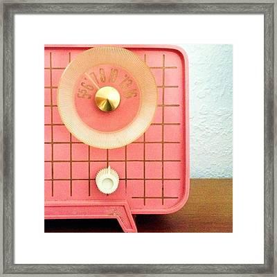Garage Sale Find...a 60s Pink Radio! Framed Print