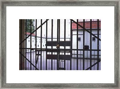 Garages And Gate Framed Print