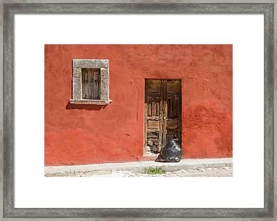 Garbage Day, San Miguel De Allende Framed Print by Rob Huntley