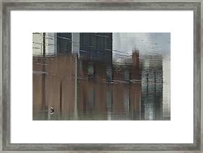 Garbage In The River Number One Framed Print by Michael Rutland