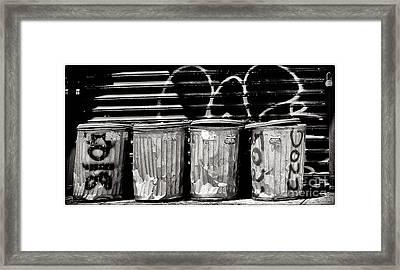 Garbage Framed Print by Madeline Ellis