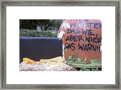 Garbage Message Framed Print