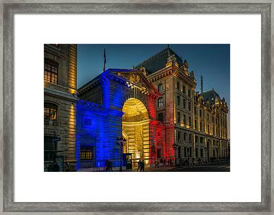 Garde De Paris - Caserne De La Cite Framed Print