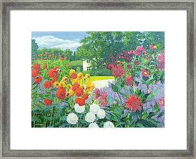 Garden And House Framed Print by William Ireland