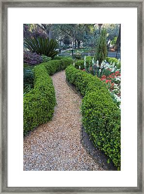 Garden - Andrew Low House Framed Print
