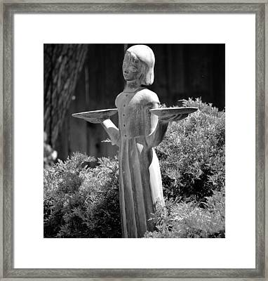 Garden Angel Framed Print
