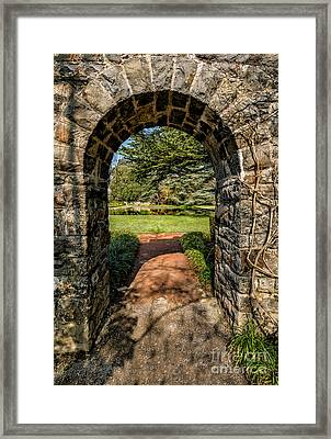 Garden Archway Framed Print