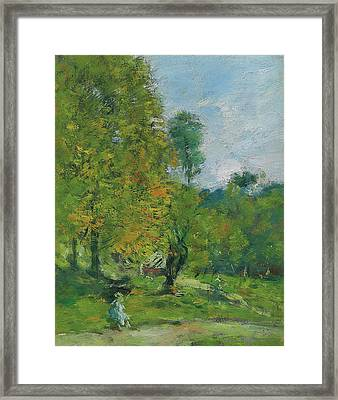 Garden At Fervaques Framed Print
