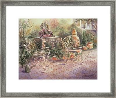 Garden At Linwood  Framed Print