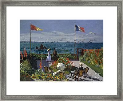 Garden At Sainte Adresse, 1867 Framed Print by Claude Monet