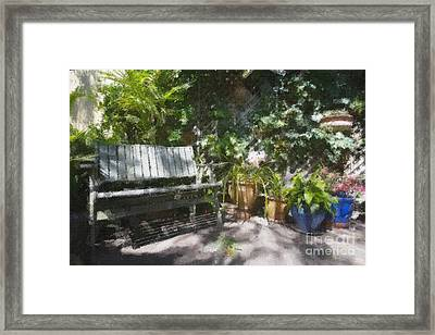 Garden Bench Framed Print by Sheila Smart Fine Art Photography