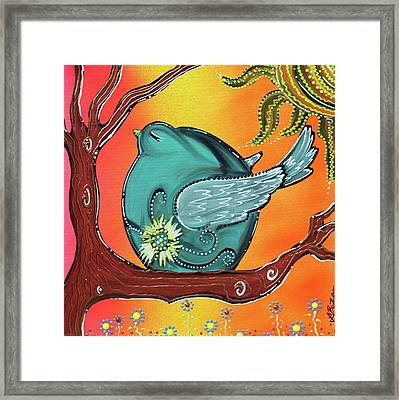 Garden Bird Framed Print
