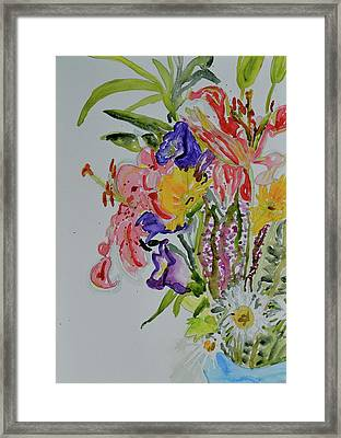 Framed Print featuring the painting Garden Bouquet by Beverley Harper Tinsley