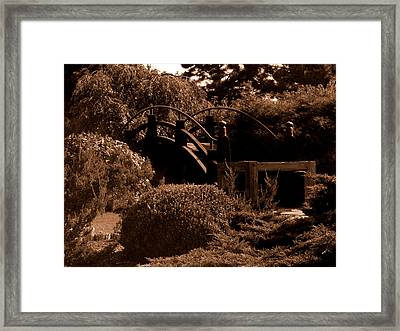 Garden Bridge Framed Print by Audrey Venute